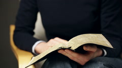 Bible Study or Devotional Time Stock Footage