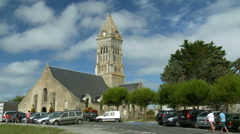 Typical small church in rural France Stock Footage