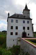 Castle Rosenberg  the castle complex in South Bohemia  - stock photo