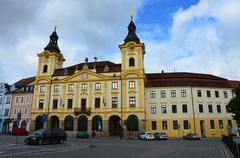 Small city Pisek - South Bohemia - Czech republic Stock Photos
