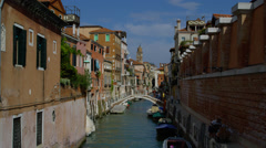 View of bridge over Grand Canal Stock Footage