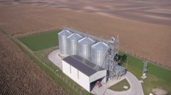 farm silo aerial - stock footage