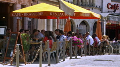Restaurant and Cafe - Beaune France Stock Footage