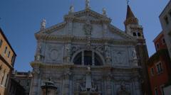 View of Santa Maria della Salute Stock Footage