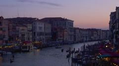 View of Grand Canal from Ponte di Rialto bridge Stock Footage