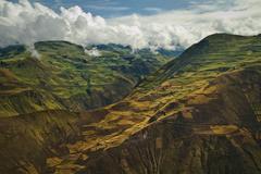 Beautiful andean city of Cañar in Azogues Ecuador Stock Photos