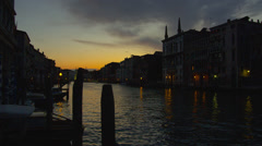 View of Grand Canal at dusk Stock Footage