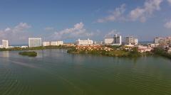 Cancun Lagoon Stock Footage