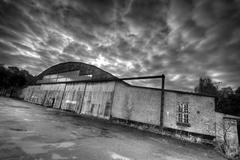 lost hangar - stock photo