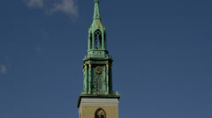 Stock Video Footage of View of St. Mary's Church tower