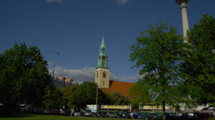 View of St. Mary's Church Stock Footage