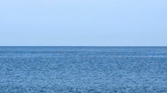 Blue water horizon background, HD stock video Stock Footage