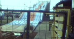 Children Slide Funfair Blackpool Pleasure Beach 16mm 70s Stock Footage