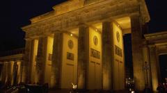 View of Brandenburg Gate Stock Footage