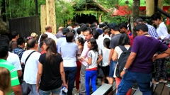 Stock Video Footage of THAILAND, BANGKOK, 5 AUGUST 2014, people on the show animals at zoo. HD