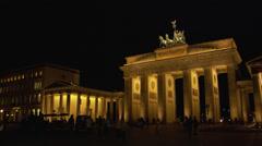Stock Video Footage of View of Brandenburg Gate