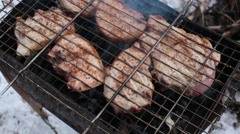 Grill cooked on mongale Stock Footage