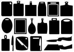 Set of kitchen cutting boards Stock Illustration