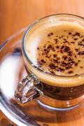 invigorating coffee with crema - stock photo