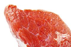 raw Beef sirloin closeup - stock photo