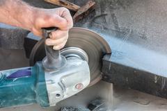 universal grinding machine - stock photo