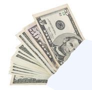 bribe money in the envelope - stock photo