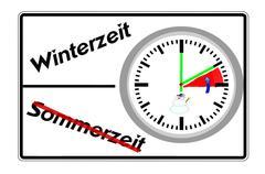 Daylight savings time, winter time, Stock Illustration