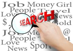 Stock Illustration of Search is an integral part of everyone's life