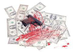 Money earned by criminal Stock Photos