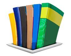all the necessary literature in e-books - stock illustration