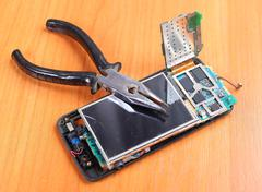 reliable repair phones - stock photo