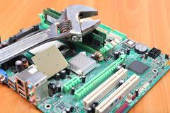 reliable computer repair - stock photo