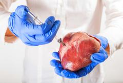 Heart disease and vessels Stock Photos