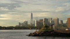 NYC Bay and Skyline - stock footage