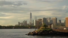 Timelapse - NYC bay and skyline Stock Footage