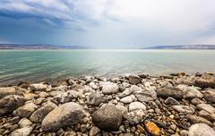 Sea of Galilee landscape - stock photo