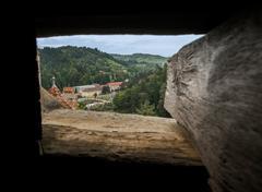 Dracula's Window View Stock Photos
