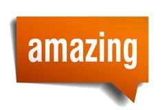 Stock Illustration of amazing orange speech bubble isolated on white