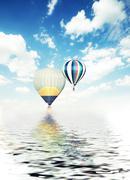 Balloons air travel adventure summer Stock Photos
