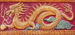 Chinese dragon mural Stock Photos