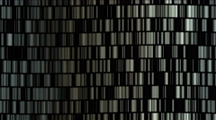 Stock Video Footage of 4k Abstract metal matrix,digital chain materials,big data scanning,storage wall