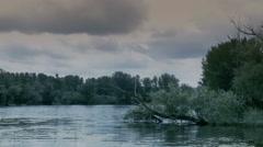 Peaceful lake - natural environment Stock Footage