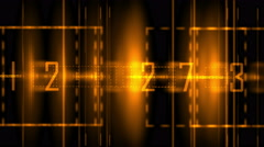 4k Business digital matrix light character,fire cross rays lines number coding. Stock Footage