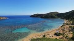 hanauma bay hawaii - stock footage