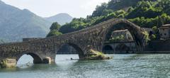 Ponte della Maddalena (Tuscany, Italy) Stock Photos