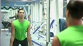 handsome guy doing strength exercises in the gym 5 Footage
