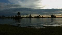Morning Sunrise on a Swamp Lake Stock Footage
