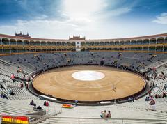 Plaza de Toros de Las Ventas interior view - stock photo