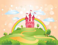 Fairy Tale castle Stock Illustration