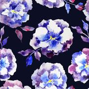 Blue flowers - stock illustration